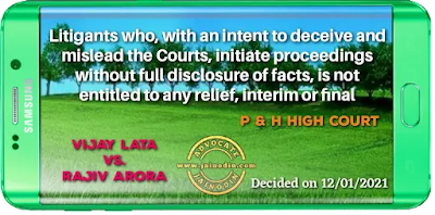Litigants who, with an intent to deceive and mislead the Courts, initiate proceedings without full disclosure of facts, is not entitled to any relief, interim or final