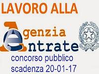 concorso pubblico agenzia entrate 2017