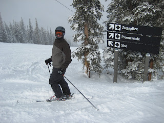 Craig about to go down his first ever Black Diamond run, Slot.