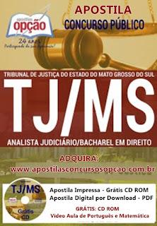 apostila para Concurso Tribunal de Justiça-MS-  Analista Judiciário Bacharel em Direito