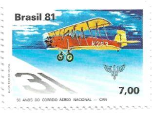 Selo 50 Anos do Correio Aéreo Nacional