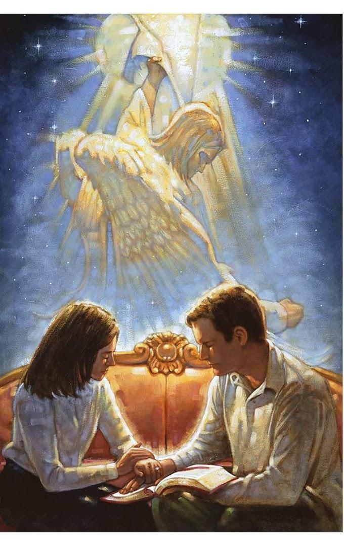 Δύο άγγελοι-ταξιδιώτες ταξίδεψαν μία νυκτα στο σπίτι μιας πλούσιας οικογένειας.