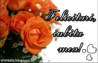 felicitari iubita mea