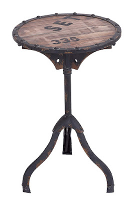 Industrial and Rustic Style Accent Table
