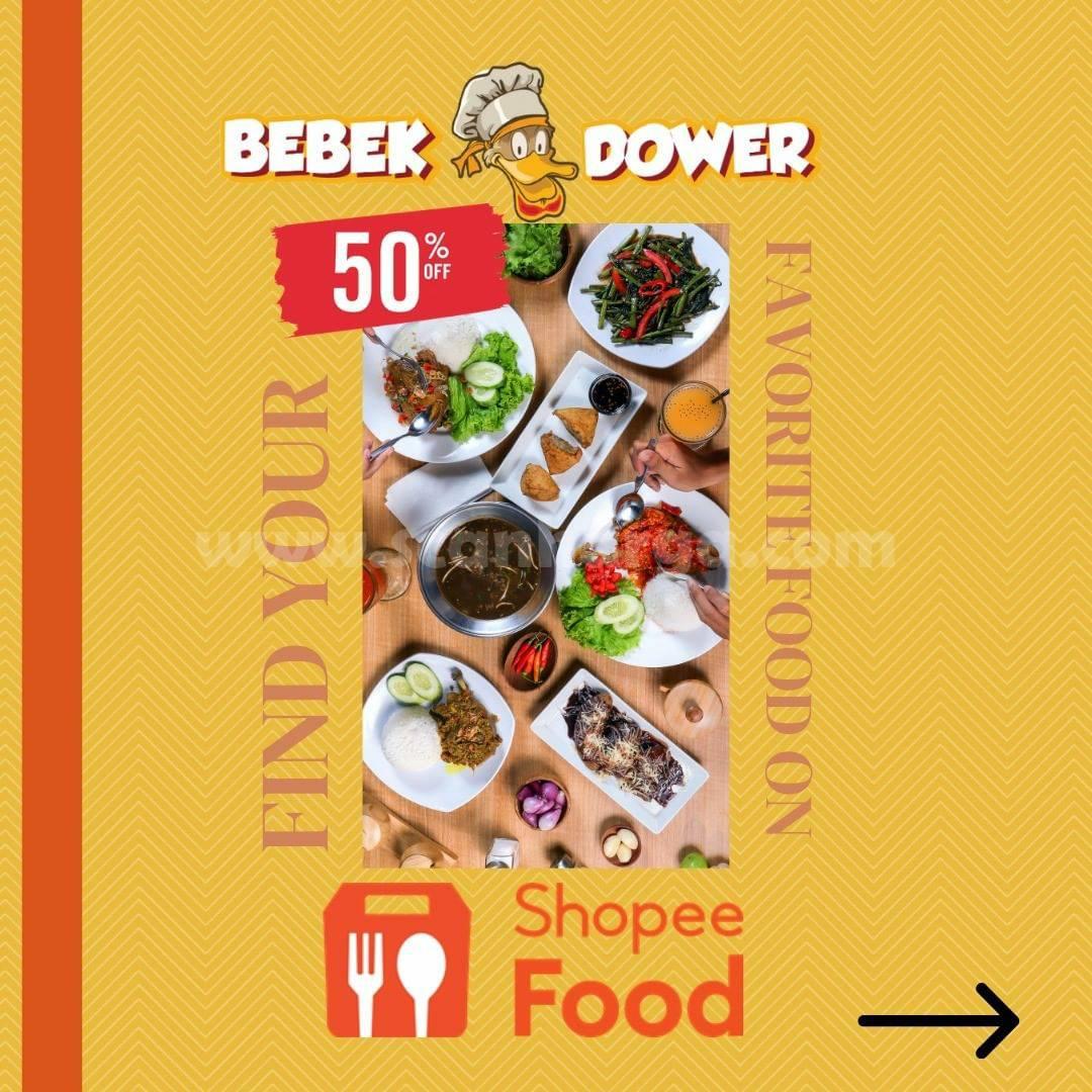 RESTO BEBEK DOWER Promo DISKON hingga 50% via SHOPEE FOOD