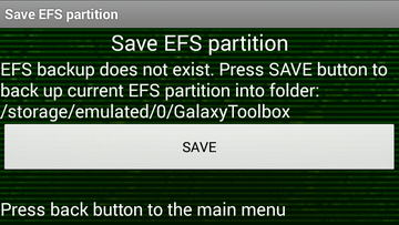 Galaxy Toolbox : sauvegarder EFS