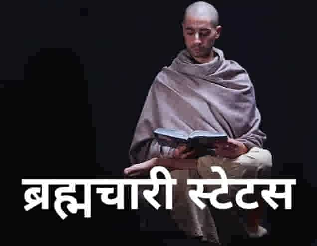 Brahmachari Attitude Status in Hindi