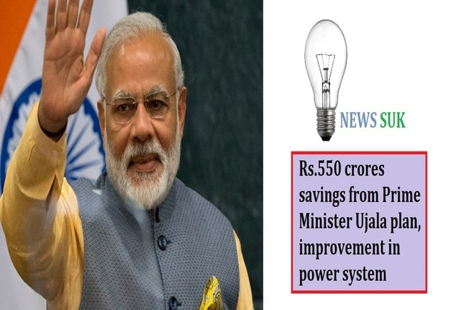 Rs.550 crores savings from Prime Minister Ujala plan