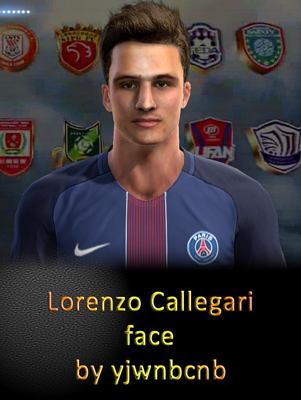 PES 2013 Lorenzo Callegari (PSG) Face by yjwnbcnb