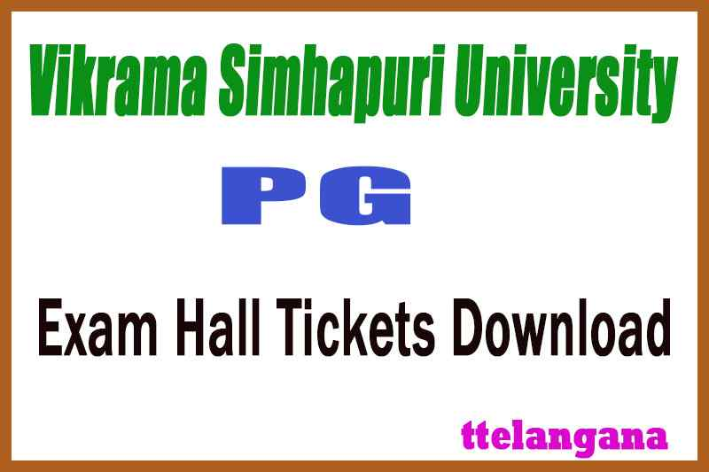 Vikrama Simhapuri University VSU PG Exam Hall Tickets Download