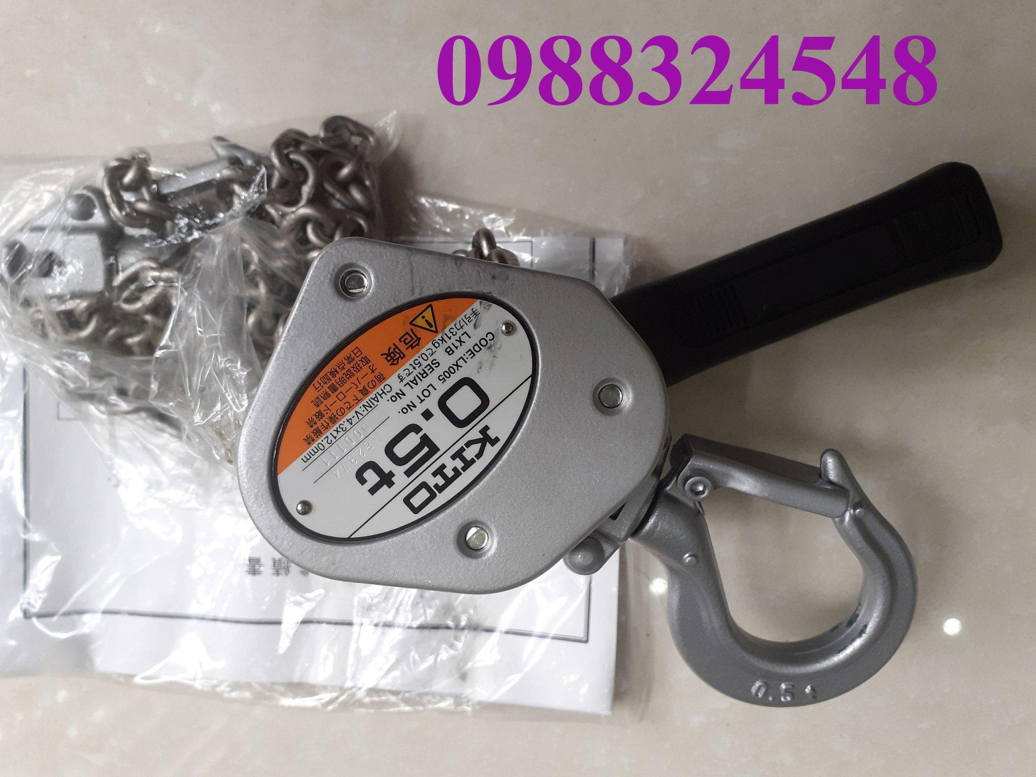 Pa lăng lắc tay Kito LX005, tải trọng: 0.5 tấn