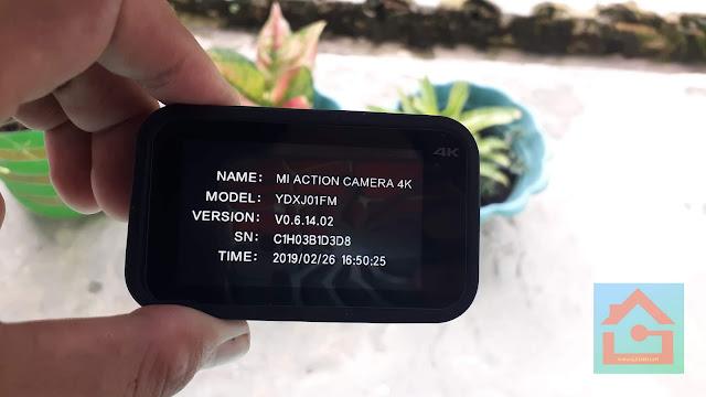 cara Update Firmware Action Cam Xiaomi Mijia 4K