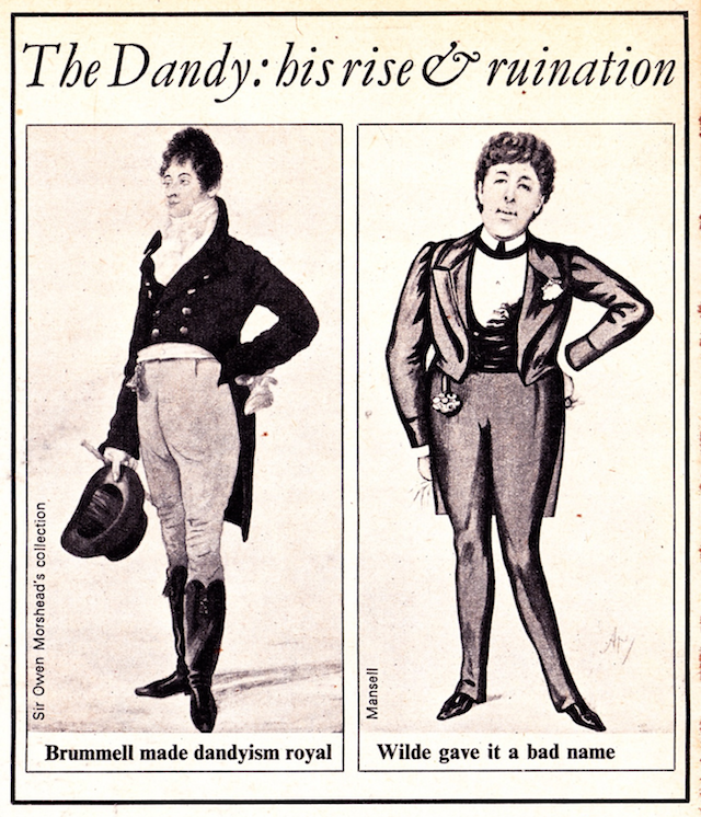 Dandyism  Oscar Wilde, Beau Brummell