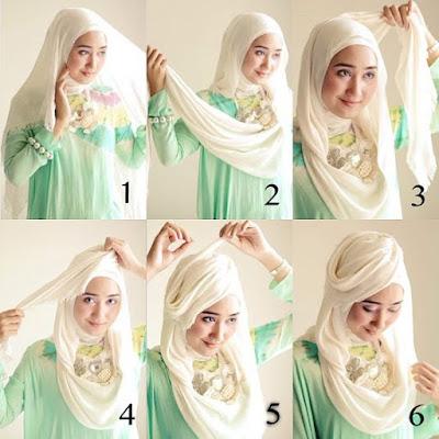 Tutorial Style Hijab Pashmina Rose Dian Pelangi