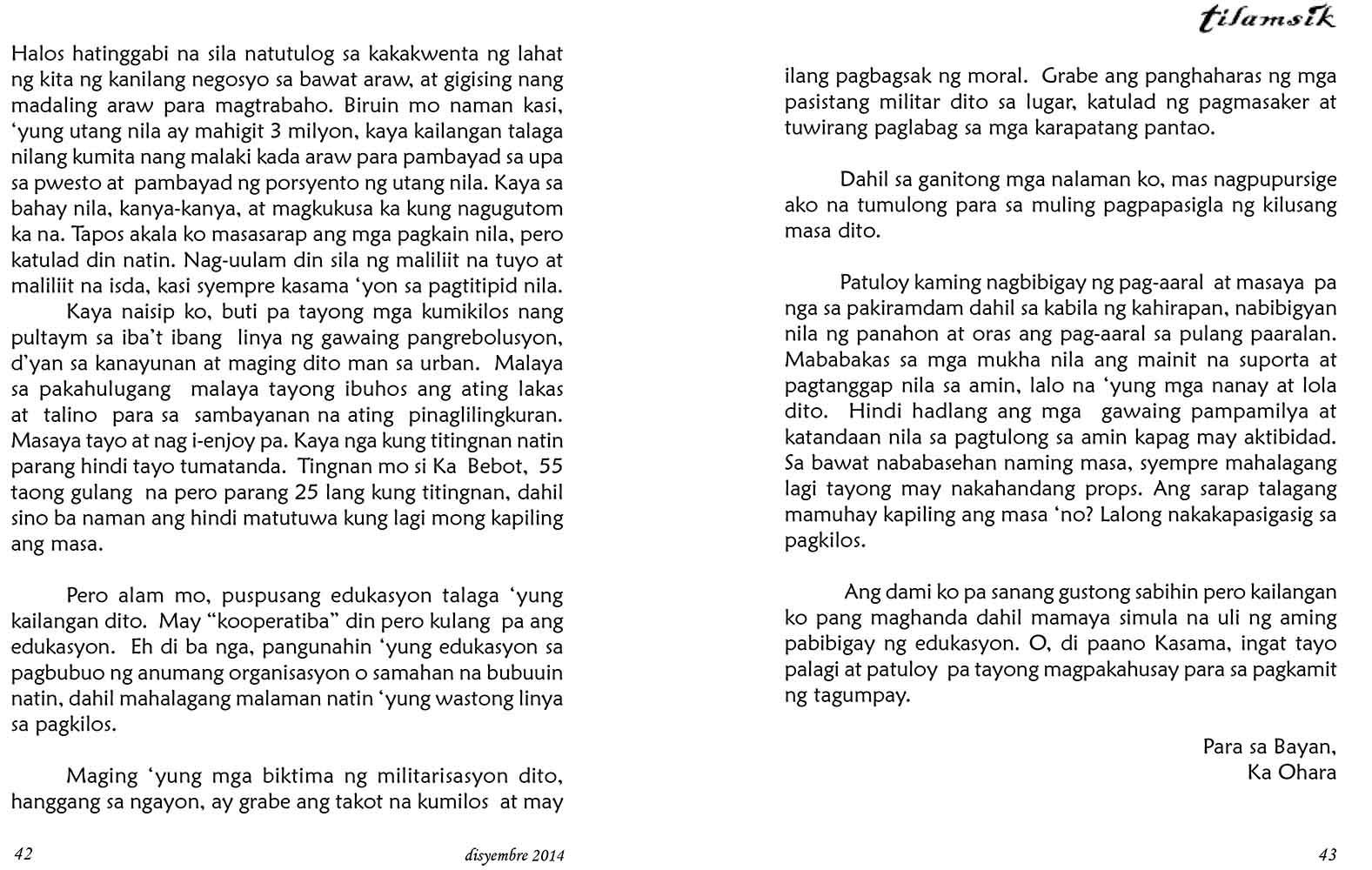 tilamsik, revolutionary cultural website of Camarines Norte