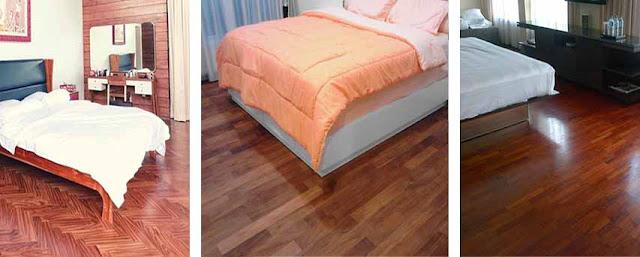 parket kayu kamar tidur