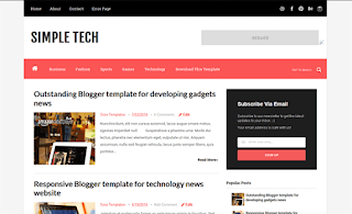 Simple Tech Simple Blogger Template