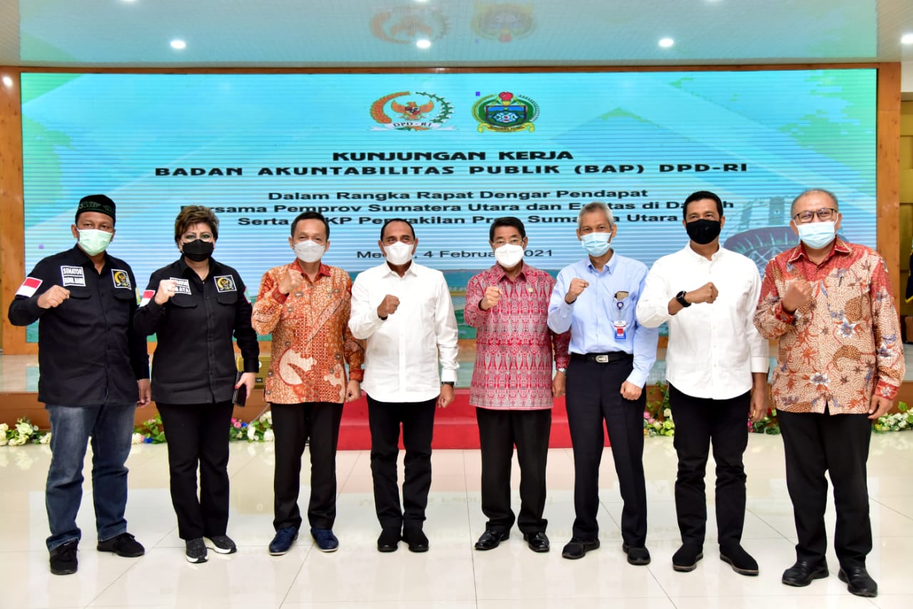 Bupati Sergai Hadiri Rapat Pertemuan Dengan Anggota BAP DPD RI