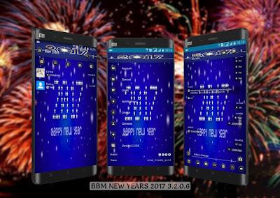 BBM MOD Happy New Years 2017 v3.2.0.6 APK Terbaru (BBM Tahun Baru 2017 Paling Keren)