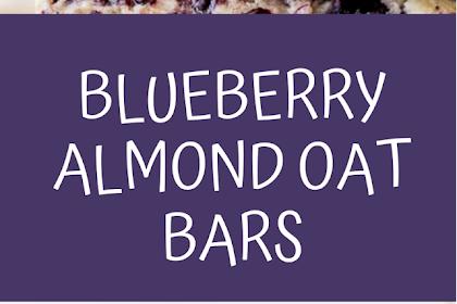blueberry almond oat bars
