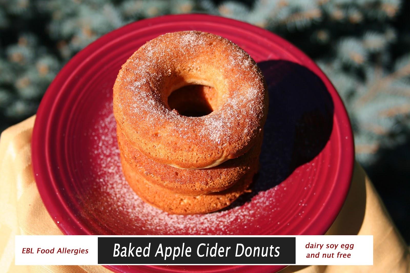 Baked Apple Cider Donuts - EBL Food Allergies