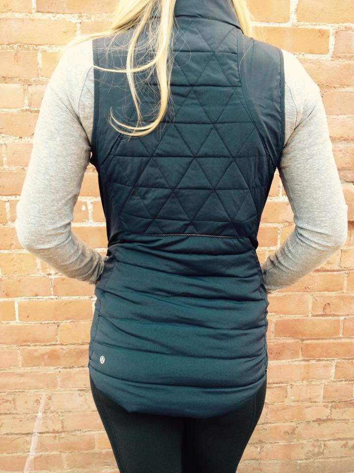 lululemon fluffed up vest back