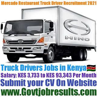 Mercado Restaurant Truck Driver Recruitment 2021-22