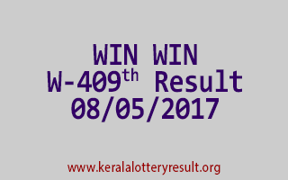 WIN WIN Lottery W 409 Results 8-5-2017