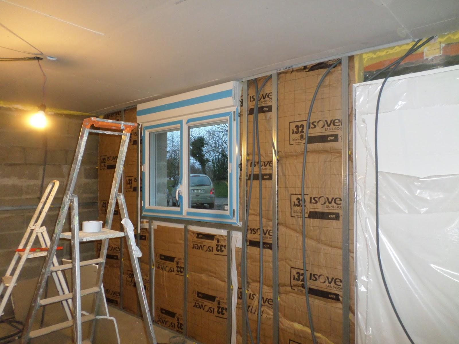 autoconstruction basse normandie doublage cloison en attendant l 39 enduit. Black Bedroom Furniture Sets. Home Design Ideas
