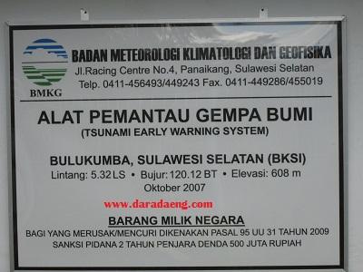 Alat pemantau Gempa Bumi Dan Tsunami