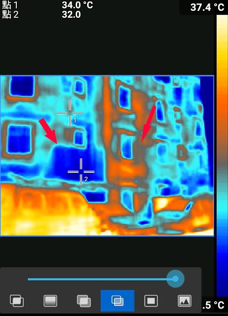 紅外線熱顯像儀觀察 roof mate  的防水效果
