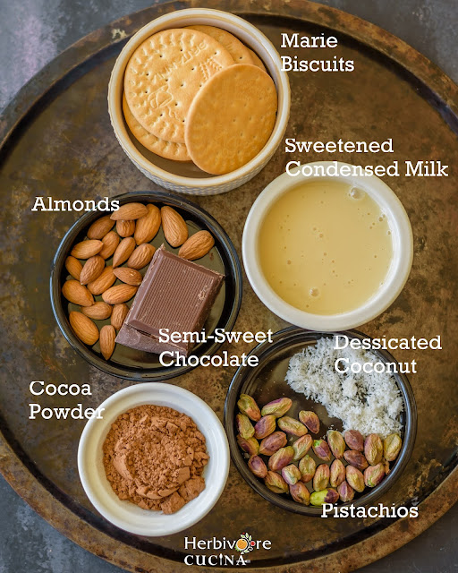 Ingredients for Easy Marie Chocolate Truffles