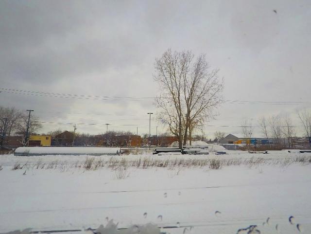 snowy scene in Québec, Canada