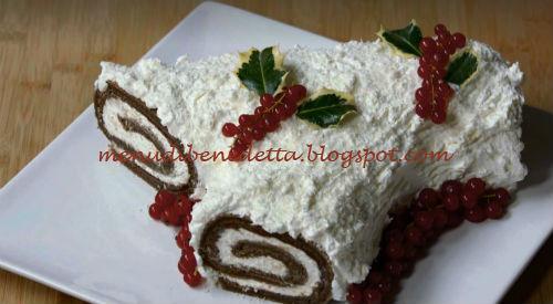 Tronchetto Di Natale Con Crema Chantilly.Tronchetto Bianco Innevato Ricetta Benedetta Rossi Da Fatto In Casa Per Voi A Natale