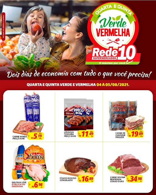 """Só hoje e amanhã! Aproveite as ofertas """"Verde & Vermelha"""" do Mercadinho O Esquinão Rede 10"""