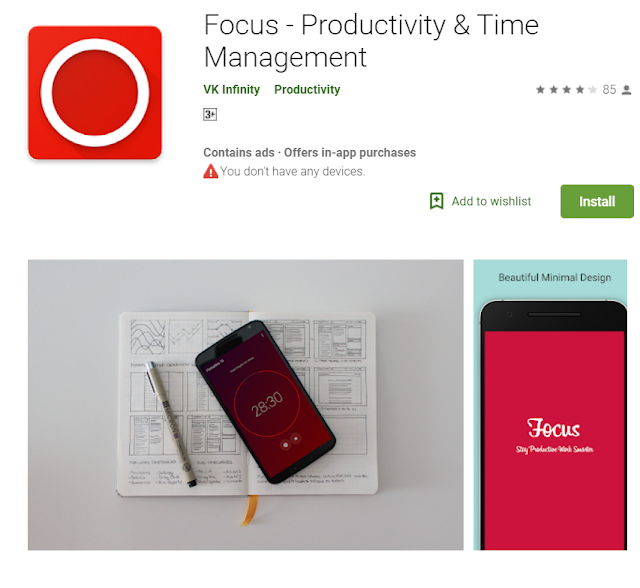 clear focus is an android app for blogger helps to understand