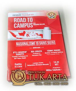 Cetak Poster Djarum Foundation Road To Campus Papua