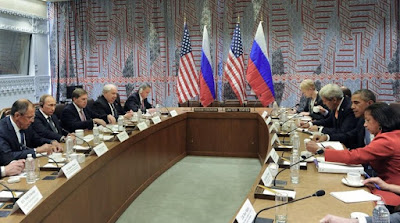 Presidents of the United States and Russia have not agreed on how to resolve the crisis in Ukraine