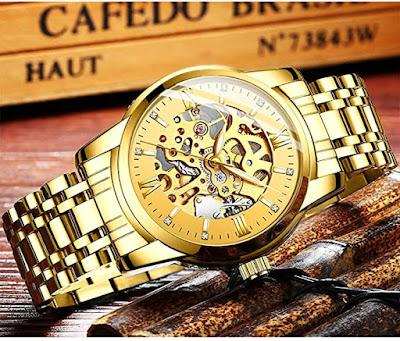 Men's Watch Luxury Mechanical Stainless Steel Wrist Watch
