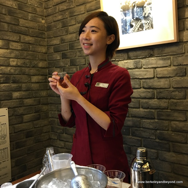instructor Dora Cheng for DIY boba tea at Chun Shui Tang Cultural Tea House in Taichung, Taiwan