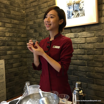 instructor Dora Cheng for DIY boba tea at Chun Shui Tang Cultural Tea House in Taichung, Taiwan