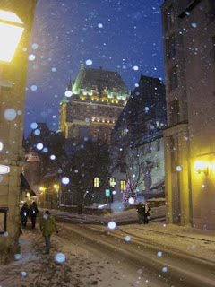 Chateau Frontenac In The Snow.