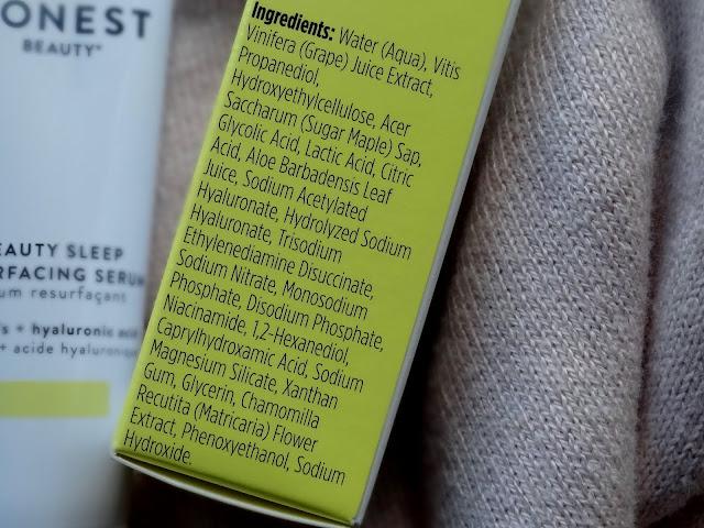 Honest Beauty Beauty Sleep Resurfacing Serum Review, photos, ingredients