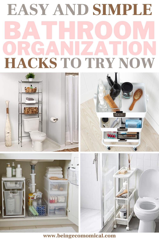Simple Bathroom Storage Organization Hacks Ecomomical