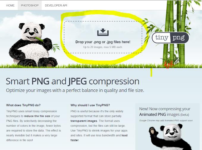 Biar Data Hosting Nggak Cepet Penuh, Compress Ukuran Gambar Dengan TinyPNG
