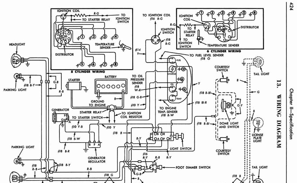 Wiring Diagram For 1956 Ford Headlight Switch