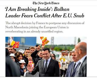 Ζόραν Ζάεφ στους New York Times: Το γαλλικό βέτο με έχει διαταράξει ψυχολογικά!