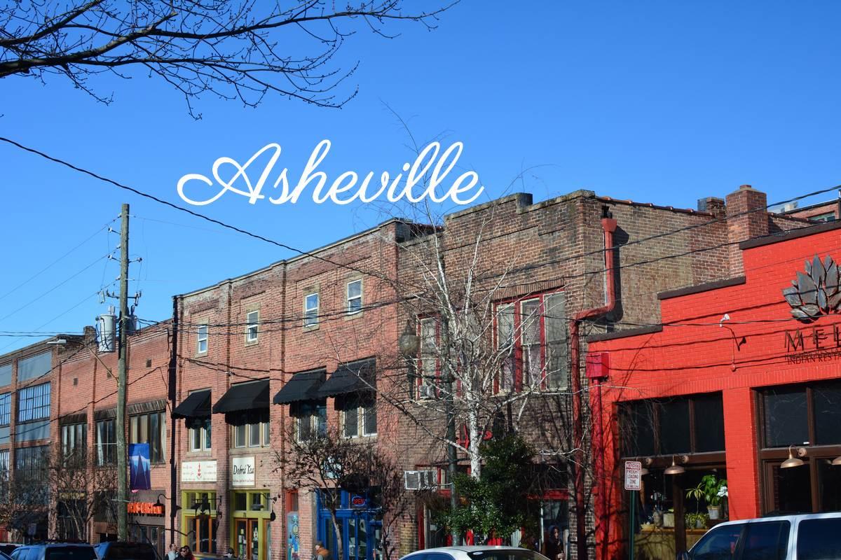 Rue d'Asheville en Caroline du Nord