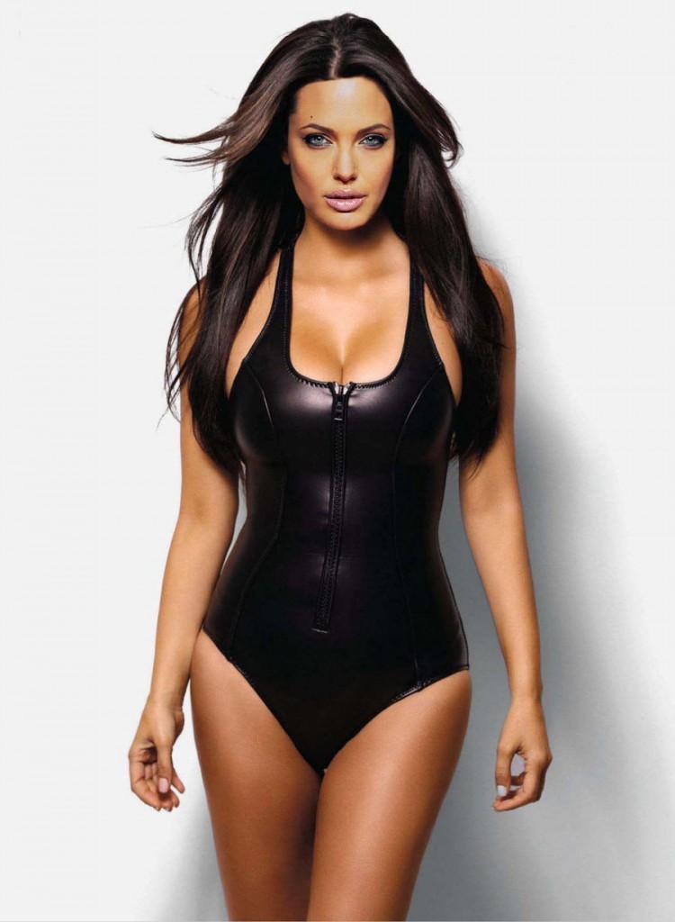 Bikini negro jolie de Angelina