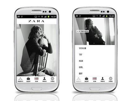 aplikacja Zara fashion
